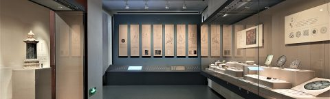Long Wall Display Cases Create Coherent Historical Story Lines
